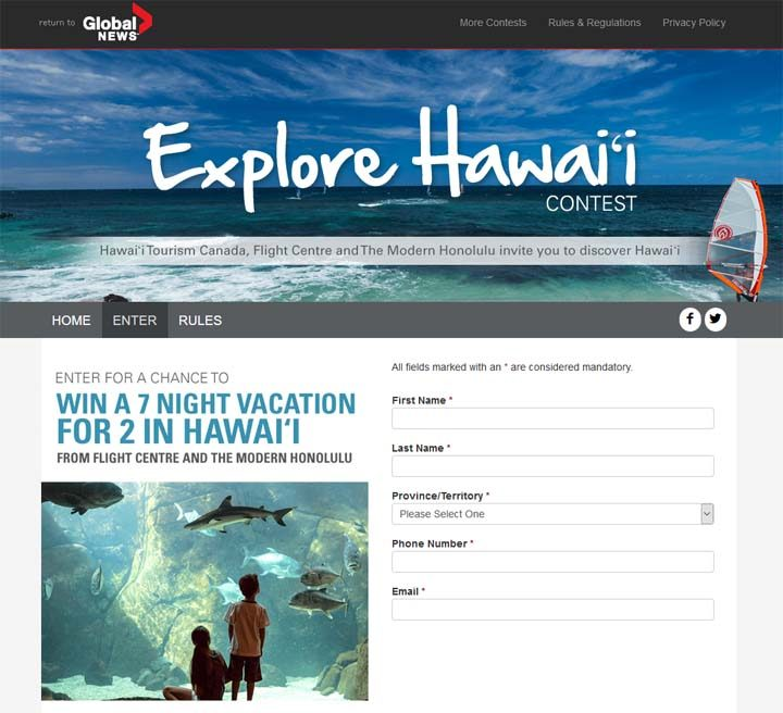 global news explore hawaii contest