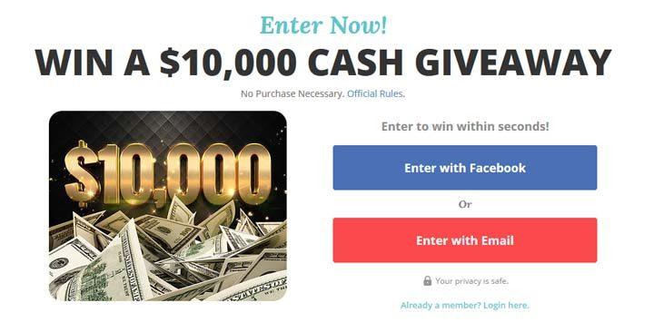 prizegrab 10000 giveaway