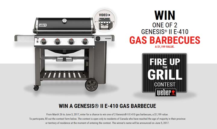 Rona – Weber – Fire up the grill Contest