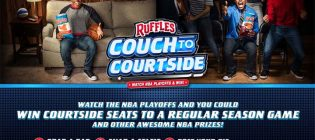 ruffles couch to courtside