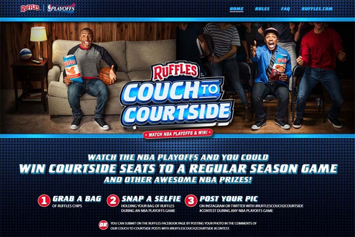 Ruffles Couch to Courtside Promotion