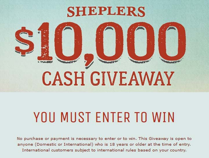 sweepstakes to enter to win cash