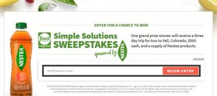 simple solutions sweepstakes