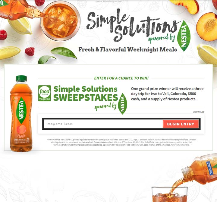 Foodnetwork Com The Kitchen: FoodNetwork.com/SimpleSolutionsSweepstakes