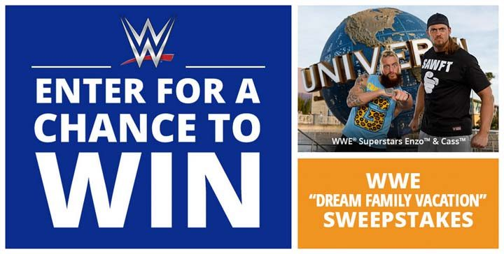 wwe dream family vacation sweepstakes