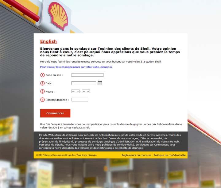 Concours La voix du client de Shell