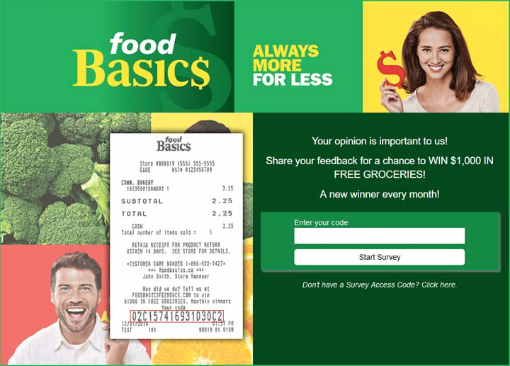 Food Basics Survey Contest