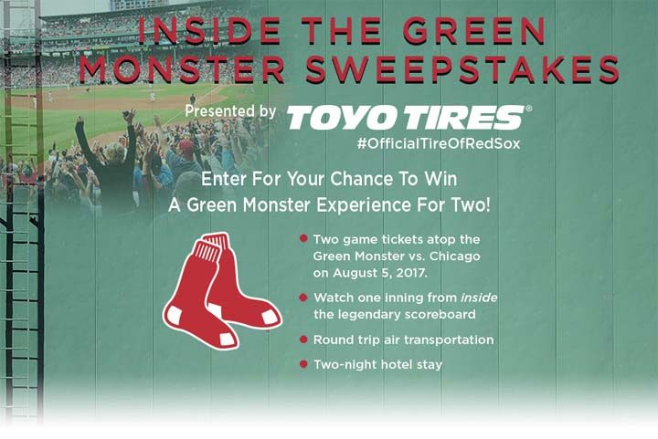 inside the green monster sweepstakes