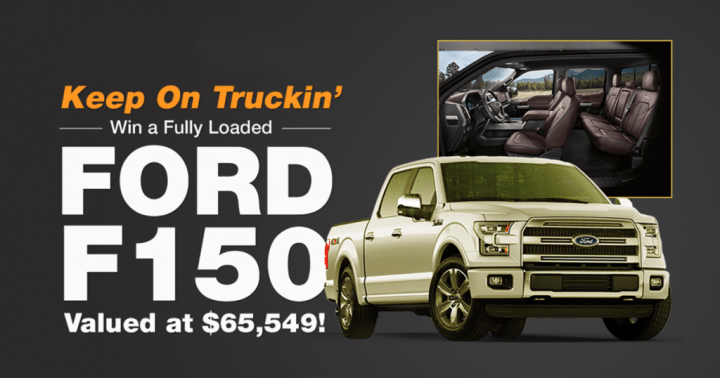PCH Brand New Ford F-150 Platinum Giveaway
