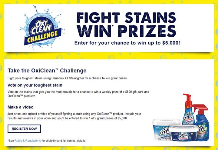 oxiclean challenge
