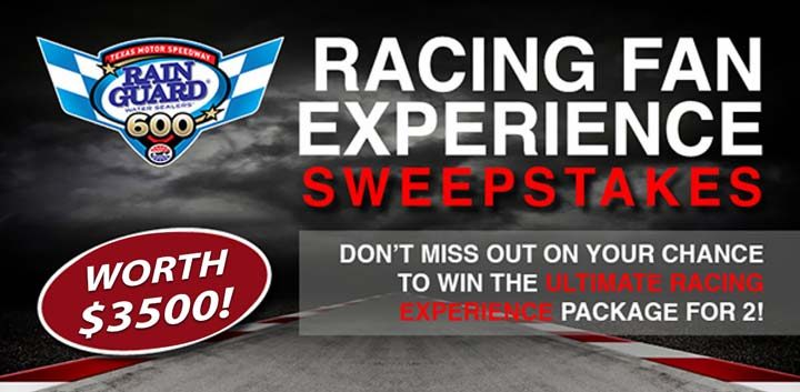 rainguard racing fan experience sweepstakes
