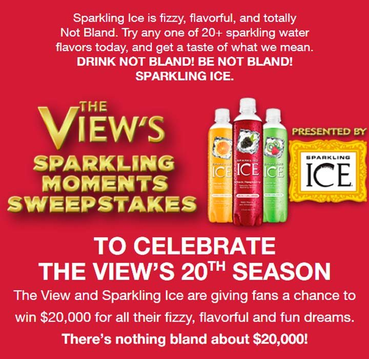 views sparkling moments sweepstakes