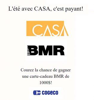 Concours Cogeco L'été avec CASA, c'est payant!