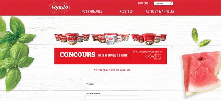 concours saputo fromage gratuit