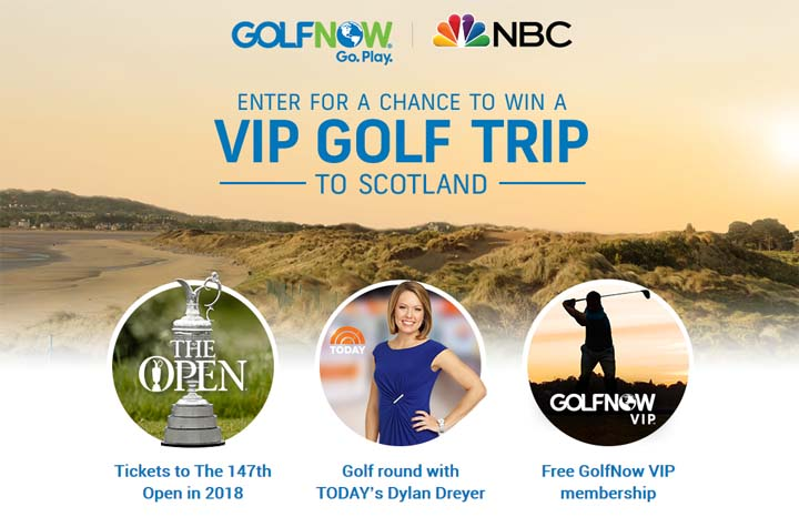 GolfNow VIP Trip Sweepstakes