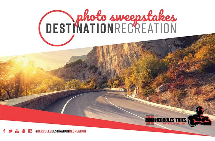 Hercules Tires Destination Recreation Sweepstakes