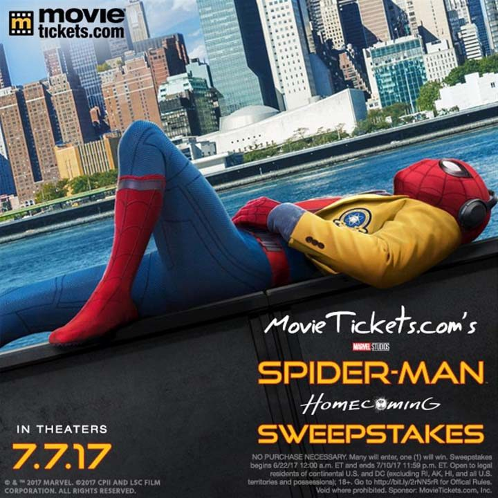 movie tickets spider man sweepstakes