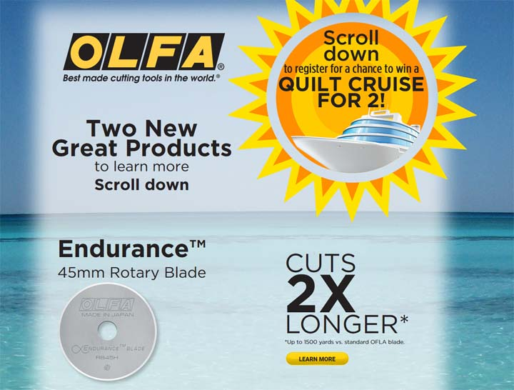 OLFA Quilt Cruise for 2 Sweepstakes
