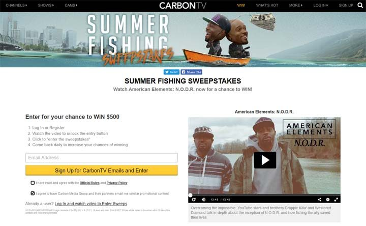 summer fishing sweepstakes