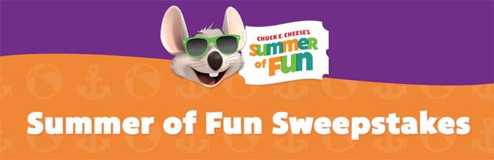 Chuck E. Cheese's Summer of Fun Sweepstakes