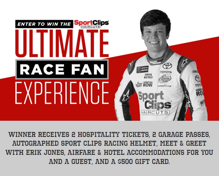 Sport Clips Ultimate Race Fan Experience Sweepstakes