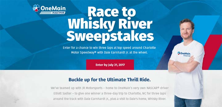 OneMain Race to Whisky River Sweepstakes