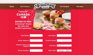 Win Armstrong Cheese for 1 year and $1,000 in Groceries Contest