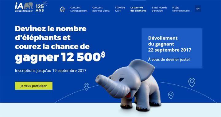 Concours iA Groupe financier La tournée des éléphants iA