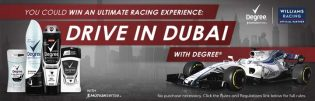 Degree Drive in Dubai WIN an Ultimate Racing Experience Contest