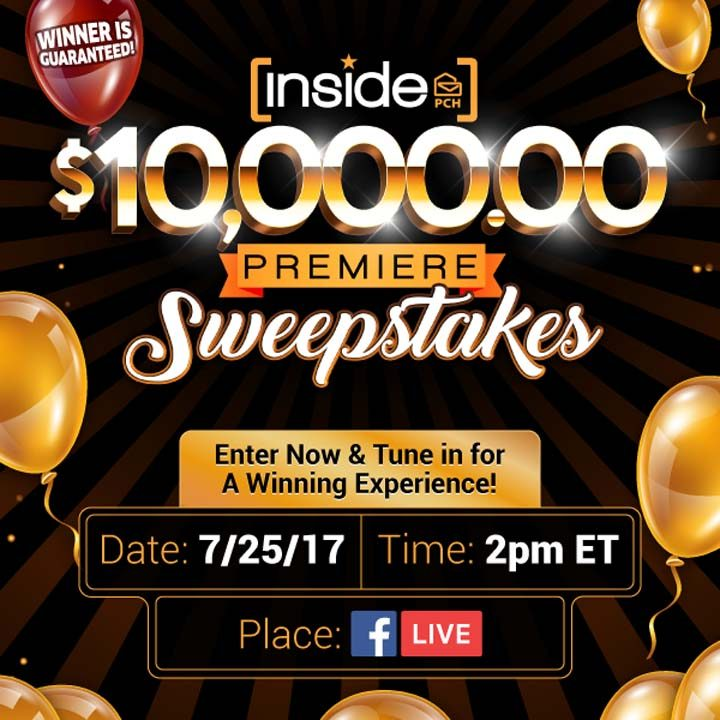 Inside PCH com $10,000 00 Premiere Sweepstakes (No  10121