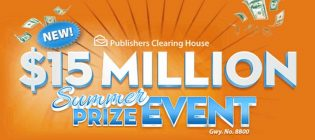 The Publishers Clearing House up to $15000000 SuperPrize