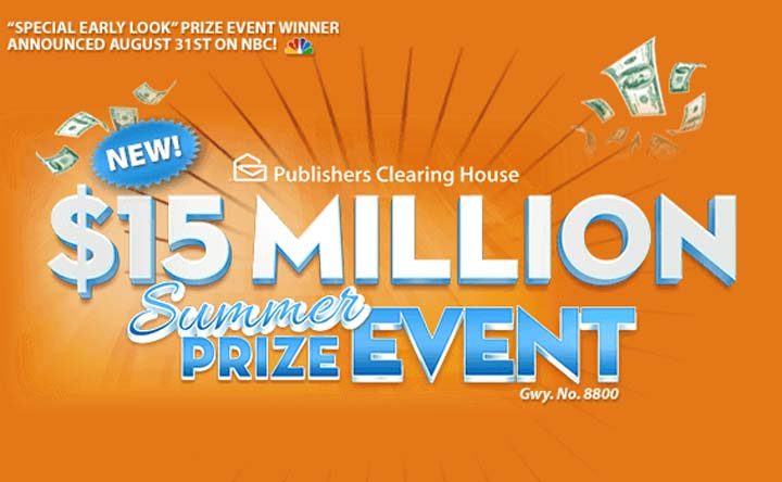 PCH NBC $15,000,000 Summer Prize Event SuperPrize 8800 | Sweepstakes PIT
