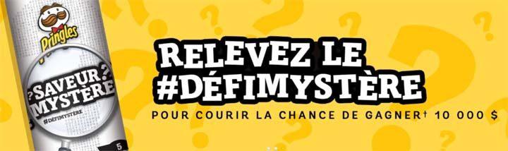 Concours défi Saveur mystère Pringles