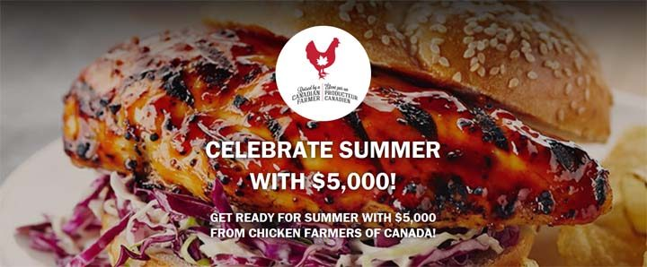 Chicken Farmers of Canada Celebrate Summer with $5,000