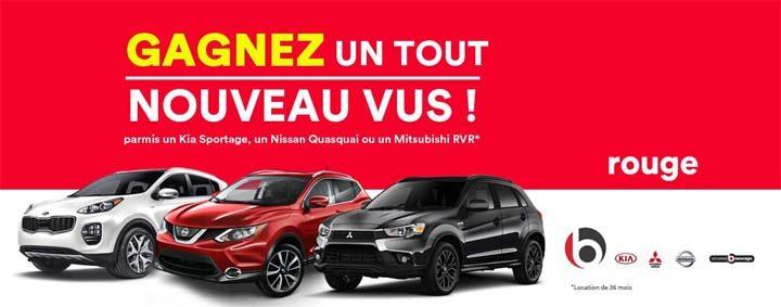 Concours En voiture avec Rouge et Groupe Beaucage Drummondville