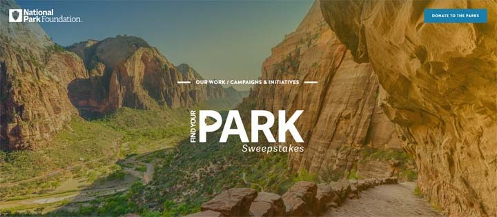 National Park Foundation Find Your Park Sweepstakes