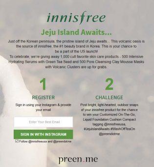 innisfree #JejuIslandAwaits Challenge