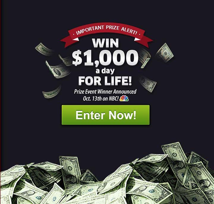PCH Up to $1,000 A-Day-For-Life SuperPrize Giveaway | Sweepstakes PIT