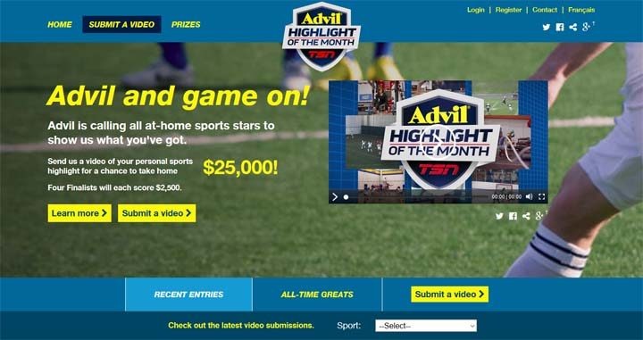 advil-highlight-of-the-month-contest