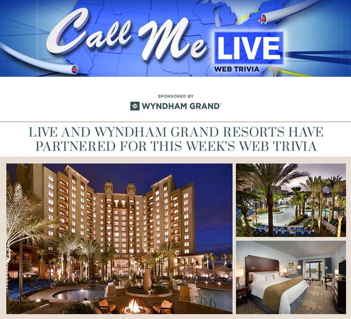 Call Me Live Trivia Web Edition Sweepstakes
