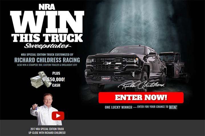 nra org sweepstakes nra win this truck sweepstakes nrawinthistruck org 6890