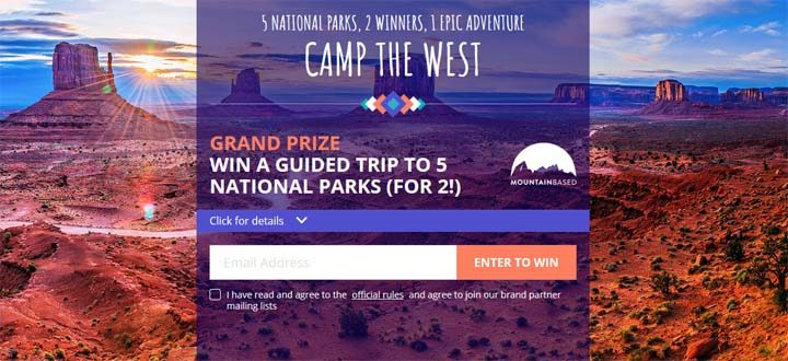 Dyrt Camp the West Sweepstakes