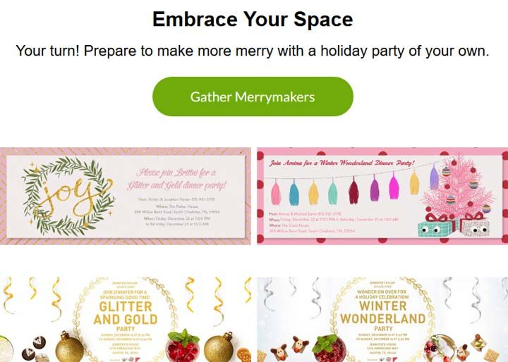 Evite Tiny Party Holiday Sweepstakes