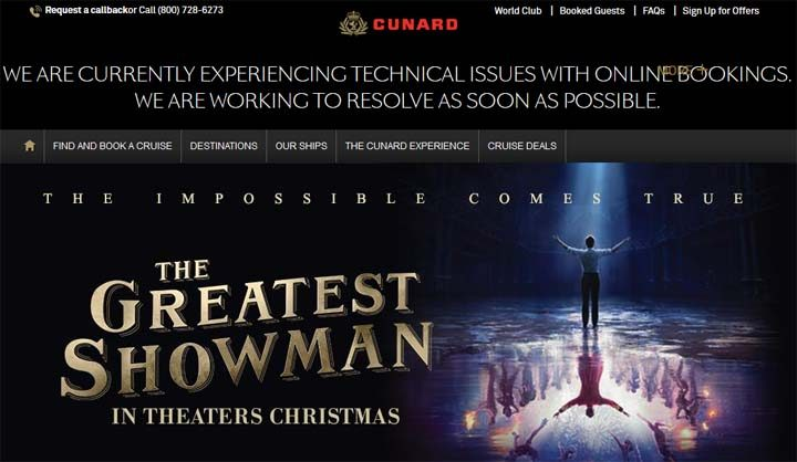 Cunard & The Greatest Showman Sweepstakes