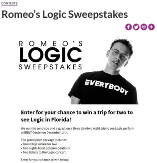 Romeo's Logic Sweepstakes