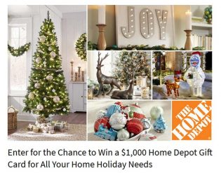 Ryan Seacrest's Home Depot Holiday Sweepstakes