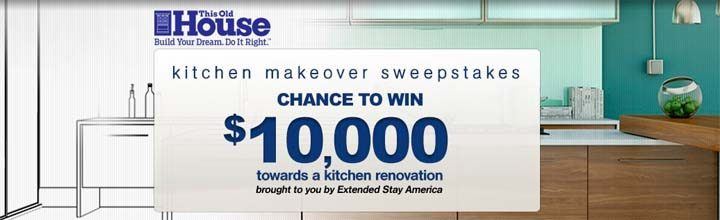 This Old House Extended Stay America Kitchen Makeover Sweepstakes