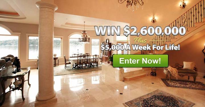 Publishers Clearing House up to $2,600,000 Lump-Sum Plus $5,000 A-Week-For-Life SuperPrize (Giveaway No. 8800)