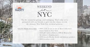 Faherty Weekend in New York City Sweepstakes