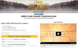 CarbonTV Cabela's Big SHOT Sweepstakes